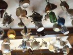 hanging from ceiling in a restaurant