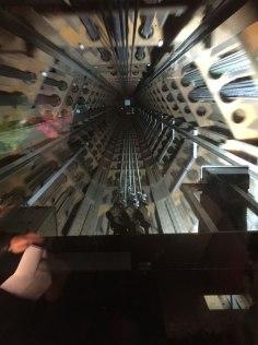 elevator in the Atomium