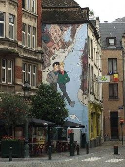 comic strip mural, Brussels