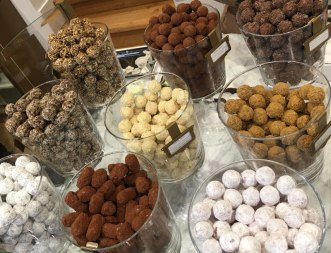 truffles from Mary chocolate shop