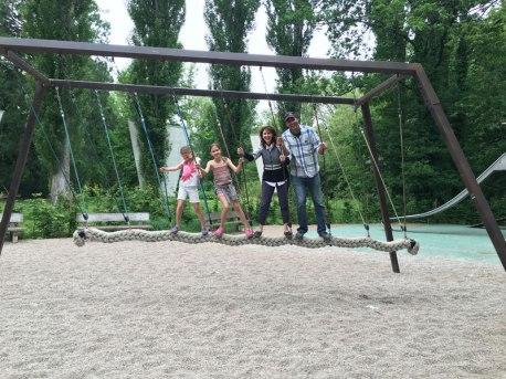 swing in Leonardo's Clos Lucé