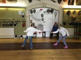fencing lesson, Museé Van Oeveren