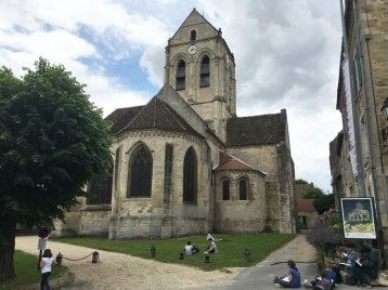 church in van Gogh painting, Auvers-sur-Oise