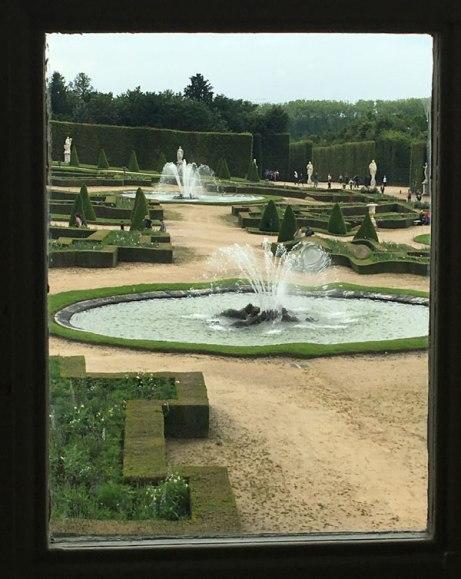 through a window at Versailles