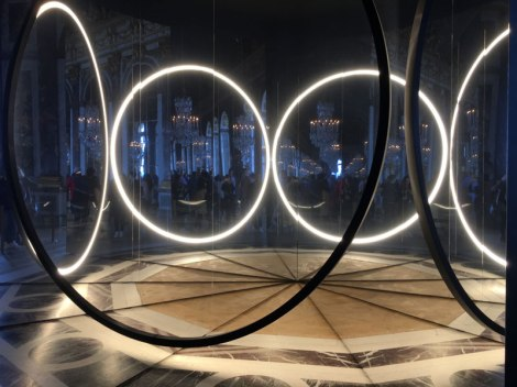 modern art installation at Versailles