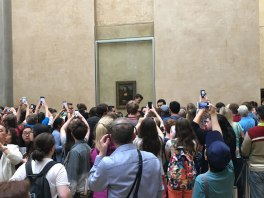 crowds at the Mona Lisa, Louvre