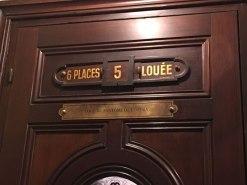 the Phantom's box (box 5) in the Palais Garnier