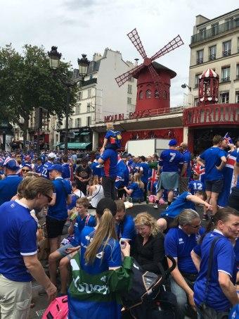 Iceland fans in Montmartre