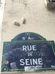 little chalk mice as street art