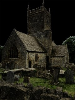 Photoshopped church, Cotswolds