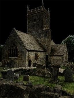 Photoshopped church, Cotswolds