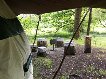 our campfire area