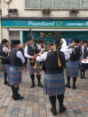 on the street of Inverness in celebration of Highland Games