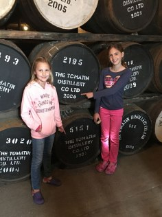 barrels of Tomatin whiskey