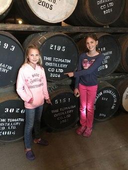 barrels of Tomatin whiskey