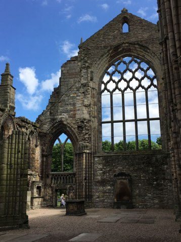 ruins of abbey, Palace of Holyroodhouse