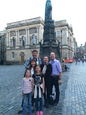 with world travelers Chuck and Kerstin in Edinburgh