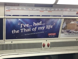"""for """"Dirty Dancing"""" fans, subway, London"""