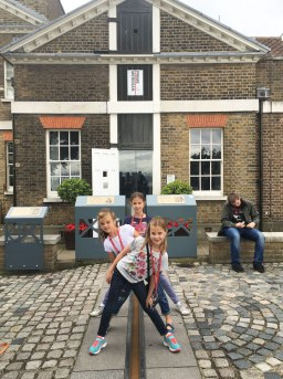 straddling the prime meridian, Greenwich