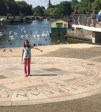 Lucy is an accurate sun dial, Stratford-upon-Avon