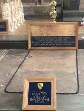 Shakespeare's grave, Stratford-upon-Avon
