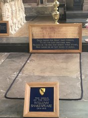 Shakespeare's grave, Stratford-upon-Avon