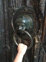 medieval knocker on church, Stratford-upon-Avon