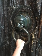 medieval knocker on church, Stratford-upon-Avon